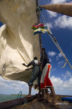 Confusion on the foredeck of the dhow 'Jannat' during a gybe. This was shot on a voyage towards Somalia from Lamu, providing inspiration for my novel #WhoeverFearstheSea