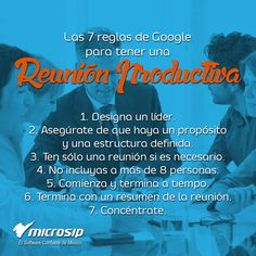 #TipsMicrosip Las 7 reglas de Google para tener una reunión productiva