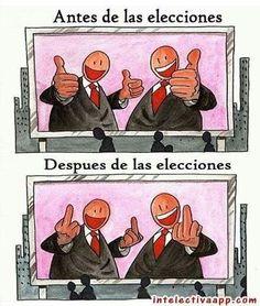 humor antes y después elecciones
