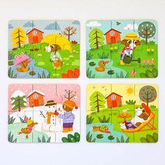 Vilac Wooden Puzzle Four Seasons