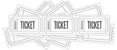 Customized Raffle Ticket Blanks  #printable #papercraft #freebie
