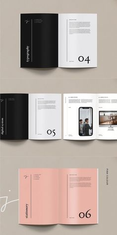 Brand Guidelines Portrait 38 Page This is a clean and profesional brand guidelines template. It's created in Adobe InDesign with 38 pages documents and 2 paper Portfolio Design Layouts, Book Design Layout, Product Design Portfolio, Editorial Design Layouts, Indesign Portfolio, Typography Design Layout, Print Layout, Brochure Indesign, Brochure Template