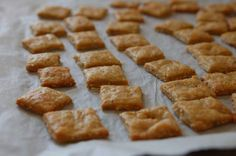 Sýrové sušenky Good Food, Yummy Food, Nom Nom, Waffles, Pie, Breakfast, Recipes, Torte, Morning Coffee