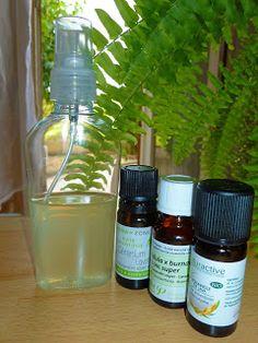 Spray Répulsif Anti-Moustiques aux 3 Huiles Essentielles : - 90ml d'Alcool à 90° ou 70° - 4ml d'HE de Géranium d'Egypte - 4ml d'HE de Citronnelle de Java - 2ml d'HE de Super Lavandin