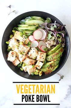 Vegetarian Poke Bowl with Tofu & Avocado recipe by SeasonWithSpice.com @seasonwithspice