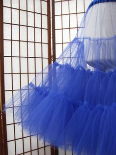 Petticoat Royal Blue Tulle -- Custom Order Kids Party Wear Dresses, Wedding Dresses For Girls, Little Girl Dresses, Tutu, Pattern Cutting, Dress Sewing Patterns, Fabric Manipulation, Sewing Techniques, Mode Inspiration