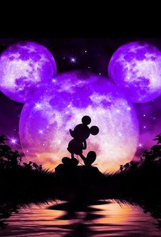 Cute Galaxy Wallpaper, Night Sky Wallpaper, Purple Wallpaper Iphone, Butterfly Wallpaper, Cute Wallpaper Backgrounds, Cute Cartoon Wallpapers, Pretty Wallpapers, Mickey Mouse Wallpaper, Disney Phone Wallpaper