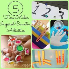 School Time Snippets: 5 Fine Motor Inspired Counting Activities