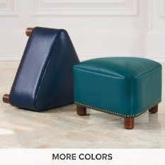 Leather Ottomans - Leather Storage Bench - Leather Benches - Grandin Road