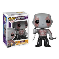 Good 'ol stubborn, concrete-thinking, dance-hating, knife-wielding, strange tattoo-bearing Drax who certainly isn't the life of the party but cute enough as this Pop Vinyl Bobble Head figure from The