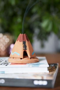 Pinon Incense Ceramic Holder Set - seriously love this