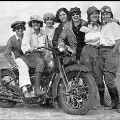 Vintage biker babes. via Dutch Bros.