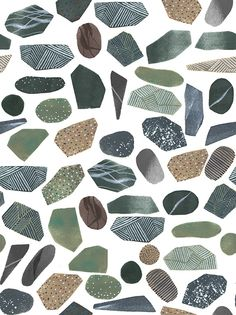 collection of stones - GREENHOUSE prints & illustrations by Lotte Dirks