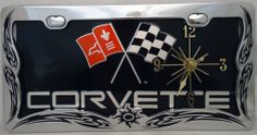1 , Flag Clock, on a, ' ,CORVETTE, with CROSS FLAGS, ', Metal Sign, Framed, by, Chrome, Black, Tribal Design Frame,,13B6.0&31A3.2,,,SHIPPED USPS,,,, ASTRODEALS,http://www.amazon.com/dp/B00H6QQRRG/ref=cm_sw_r_pi_dp_bGV-sb0QN53BTEQ0