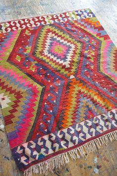 beautiful colors on natural wood floor