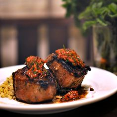 Sunday Supper: Lamb Loin Chops & Minted Quinoa