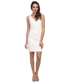 Donna Morgan Lulu V-Neck Lace Dress Ivory - Zappos.com Free Shipping BOTH Ways