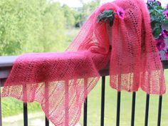A new FREE pattern was just added to my Ravelry page. Claire is a light-as-air stole, knit with Rowan Kidsilk Haze . There is just one writ...