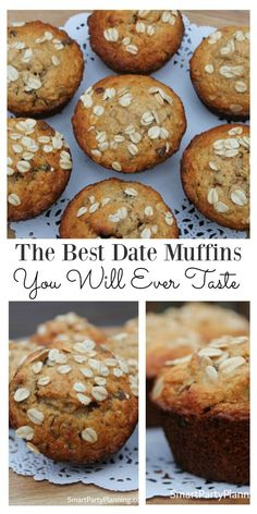 A Simple and easy date muffins recipe that the entire family are going to love. You need recipes like this in your life for those easy after school snacks, which you can whip up in just a few minutes. Use the special ingredients to make them healthy too! Date Recipes Healthy, Gourmet Recipes, Baking Recipes, Cake Recipes, Dessert Recipes, Desserts, Healthy Snacks, Healthy Breakfasts, Snacks Kids