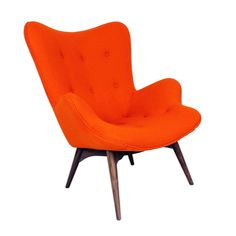 Hans Andersen Home Teddy Bear Style Chair (The Teddy Bear Chair Orange) (Fabric) Mid Century Modern Armchair, Mid Century Chair, Mid Century Modern Furniture, Orange Accent Chair, Accent Chairs, My Living Room, Living Room Chairs, Dining Chairs, Living Area