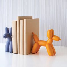 Orange Big Top Balloon Dog Bookend - Waiting On Martha - 2