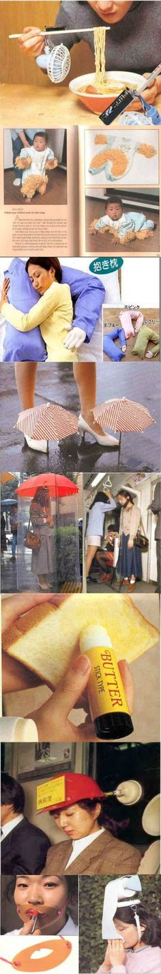 Funny japanese inventions ;) I think the baby mop is my fav. Definitely the most practical.