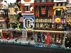 Ninjago City collaborative display at BrickCon 2018 Lego Ninjago City, Lego City, Lego Batman, Lego Marvel, Marvel Jokes, All Lego, Lego Lego, Lego Moc, Lego Movie Sets