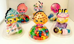 Shopkins Party Favors Candy Containers by KidsInvitations on Etsy Fete Shopkins, Shopkins Bday, Candy Party Favors, Party Treats, Party Fiesta, 6th Birthday Parties, 8th Birthday, Birthday Ideas, Candy Containers