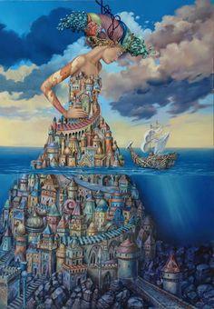 Tomek Sętowski - Lost Ship Painting: Oil on Canvas