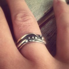 Xmas present to myself, beautiful hand made ring made from recycled materials by Mike Ward in Nelson, NZ