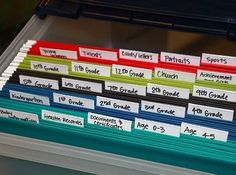 Start a file box for each of your kids when they are born. Label files and use it for medical records, important documents, special papers, etc. You'll always know where everything is and they will appreciate the organized info when they are older and need to reference it.
