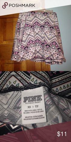 Victoria's Secret Pink skirt Hardly worn Aztec print PINK skirt PINK Victoria's Secret Skirts