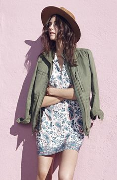 dress and field jacket for summer