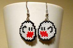 Ghost Boo Mario Nintendo Video Game Cosplay Peyote Earrings on Etsy, $15.00