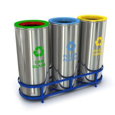 Are you in the hunt for some really nice set of recycle bins to put in your area?  These ones right here are an awesome selection. 608a and 608c are created using stainless sheet metal, while models 608b and 608d are made of sheet metal with powder coating finish. Both come in lama iron frames. Sets 608a and 608b could each carry as much as 141 liters of waste materials, while the remaining two sets could each hold up to 94 liters of rubbish.