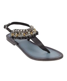 Take a look at this Black Michelle Sandal by Matisse on #zulily today!
