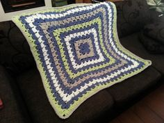 Ravelry: Project Gallery for From the Middle Baby Blanket #4956 pattern by Bernat Design Studio