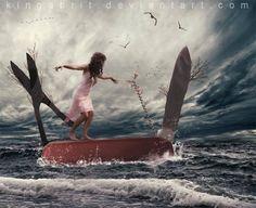 The mystical surreal fantasy art of Kinga Britschgi.