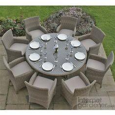 Maze Rattan Winchester Round 8 Seat Garden Furniture Set