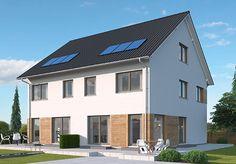 """Modell """"Marseille"""" - 2,5-geschossige Doppelhaushälften, große Fensterflächen für beste Belichtung, mit praktischer Ankleide und exklusivem Wellness-Bad. Raumgrundfläche gesamt: 148,25 qm                                                                                                                                                                                 Mehr"""