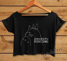 Studio Ghibli shirt Totoro anime women crop top by JamieGallery | My Neighbor Totoro | Studio Ghibli Merchandise