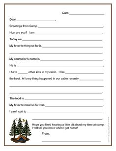 How To Make Sure Your Kids Write Home From Summer Camp  Diy
