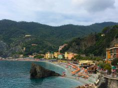 Monterosso al Mare offers vacationers the largest beach in the Cinque Terre. #italy #vacation #travel