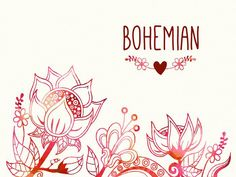 Bohemian Flourish Free  Vector design in colorful Boho style with place for text. I hope you like using these image.
