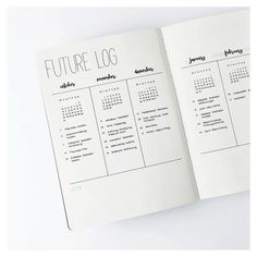 Bullet Journal Future Log by @journalspiration