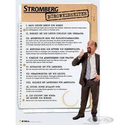 Stromberg Poster Büroweisheiten Hier bei www.closeup.de