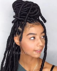 Faux Locs Hairstyles, Braided Hairstyles For Black Women, African Braids Hairstyles, Braids For Black Women, Braids For Black Hair, Dreads Black Women, Protective Hairstyles, Locks Hairstyle, Short Box Braids Hairstyles