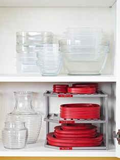 DIY Home Sweet Home: 7 Amazing Tips For Organizing Your Tupperware And Food Storage Containers Large Food Storage Containers, Container Organization, Storage Bins, Storage Cabinets, Kitchen Cabinets, Storage Solutions, Organization Ideas, Small Storage, Storage Ideas