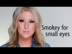 SMOKEY MAKEUP FOR SMALL EYES  (Julianne Hough).  I wish I had a friend who could try this on me.  Hmmm...nadia?  sarah? ;)