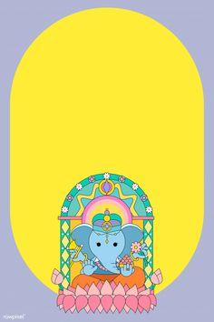 ganesh, indian and vinayaka Ganpati Invitation Card, Indian Wedding Invitation Cards, Wedding Cards, Indian Invitations, Ganesha, Diwali Vector, Diwali Wallpaper, Mobile Wallpaper, Wedding Card Design Indian